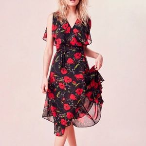 Urban Outfitters Kimchi Blue Floral Midi Dress XS